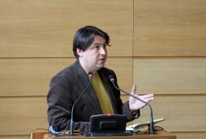 Pastor Mindaugas Kairys, Vorsitzender der Diakonie in Litauen, stellt neue Projekte vor